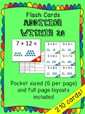 Math flash cards - addition within 20