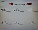 Addition within 5