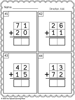 Addition without Regrouping