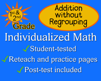 Addition without Regrouping - Individualized Math - worksheets