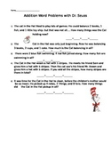 Addition word problems with Cat in the Hat