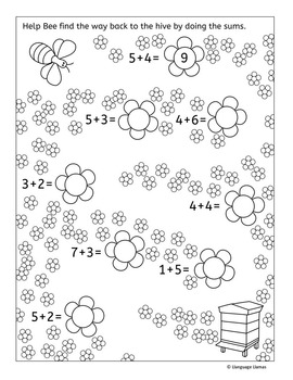 Farm Addition worksheets and activities including fun Color by Addition