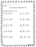 Addition worksheets (basic addition)
