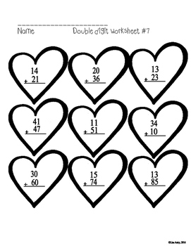 Addition worksheets (double digit)