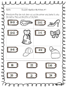 Addition worksheets (doubles)