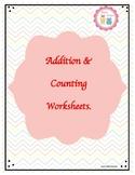 Addition worksheets for Pre-K