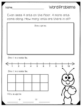 Addition worksheets to 10