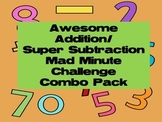 Addition/Subtraction Challenge Combo Pack - Mad Minute Math