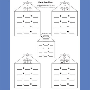 Addition/Subtraction Fact Family Pattern Practice
