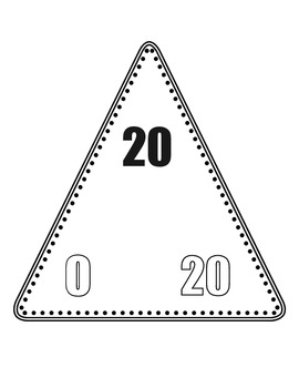 Addition/Subtraction Fact Family Triangle Flash Cards