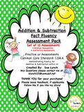 Addition/Subtraction Fact Fluency w/in 10 Assessments 1.OA.6
