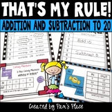 Addition Subtraction Function Machines