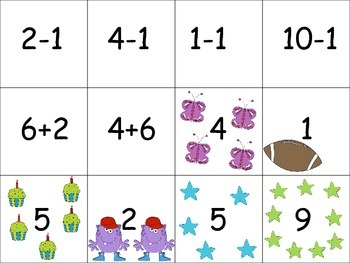 Addition/Subtraction Memory Match