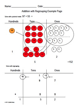 Addition/Subtraction Regrouping with Discs (like Singapore Math) Smartboard