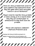 Addition/Subtraction Story Problem Task Cards