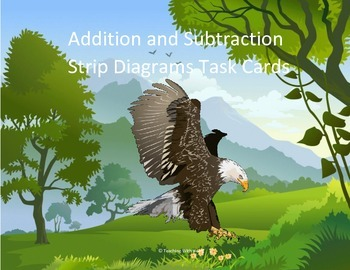 Addition & Subtraction Strip/Tape Diagrams Scoot Activity/Task Cards Sample