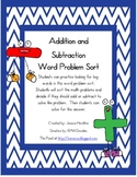 Addition/Subtraction Word Problem Sort