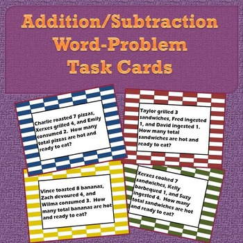 Addition/Subtraction Word-Problem Task Cards