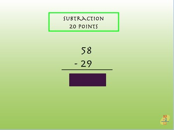 Addition/Subtraction jeopardy
