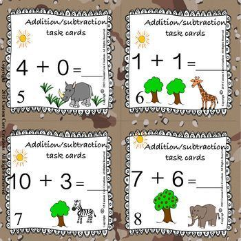Addition/Subtraction to 20 Task Cards