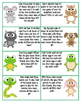 Addition/Subtraction word problem/task cards 2nd/3rd grade