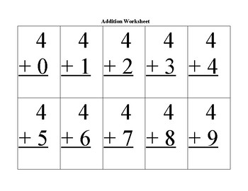 AdditionWorksheet