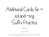 Additional Cards for Suffix -ed and -ing Practice