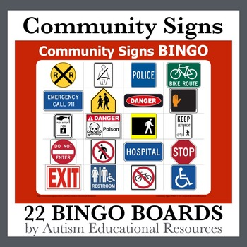 Additional Community Signs Bingo Boards