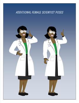 Additional Female Scientist Poses