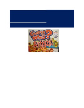 Additional Label for Guess Who Artists Game