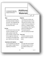 Additional Materials for Reports
