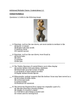 Additional AP Art History Multiple Choice: Content Areas 1-3