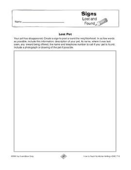 Additional Nonfiction Writing: Signs