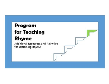 Additional Resources for Teaching Rhyme - Phonological Awareness - Step 4