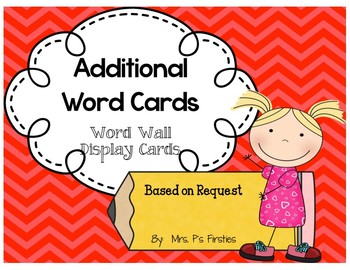 Additional Word Cards
