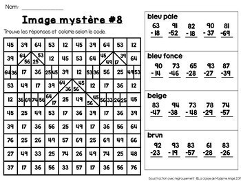 Additions et Soustractions:  Two-digit Addition and Subtraction Bundle in French