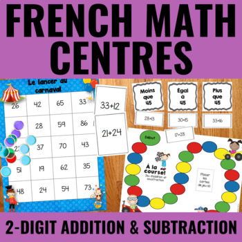 Additions et soustractions à 2 chiffres - 2-Digit Addition & Subtraction French