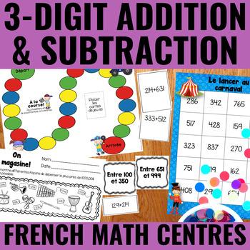 Additions et soustractions à 3 chiffres - 3-Digit Addition & Subtraction Centers