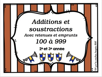 Additions et soustractions avec retenues et emprunts
