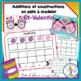 Additions et soustractions en pâte à modeler - St-Valentin