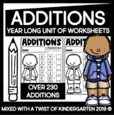Addition Worksheets | Year Long | Kindergarten