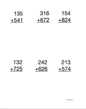 Additions without regrouping  (2-digit & 3-digit)
