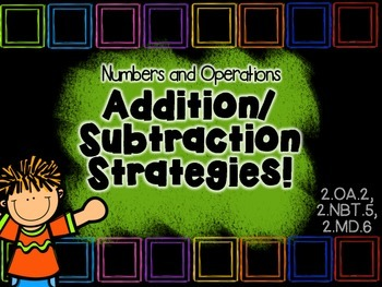 Addition& Subtraction Strategy and Practice! Common Core Aligned.
