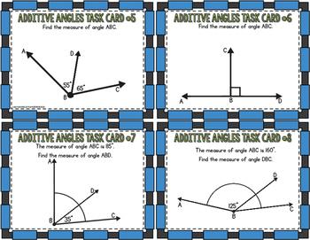Additive Angles Task Cards