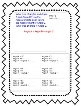 Additive Angles CCSS 4.MD.7