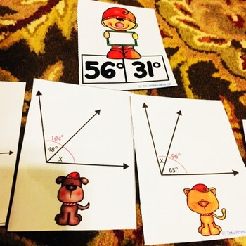 Additive Angles Christmas Fourth Grade Math Center