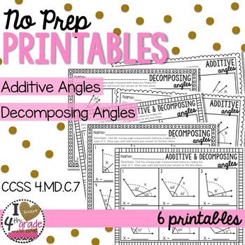 Additive & Decomposing Angles