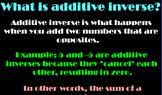 Additive Inverse Active Board Lesson