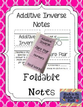 Additive Inverse Foldable