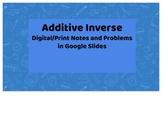Additive Inverse Google Slides/Notes